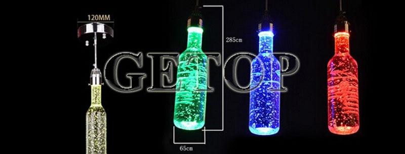 Z Moderna obeska za kristalno steklenico za vino, balonska svetilka - Notranja razsvetljava - Fotografija 6