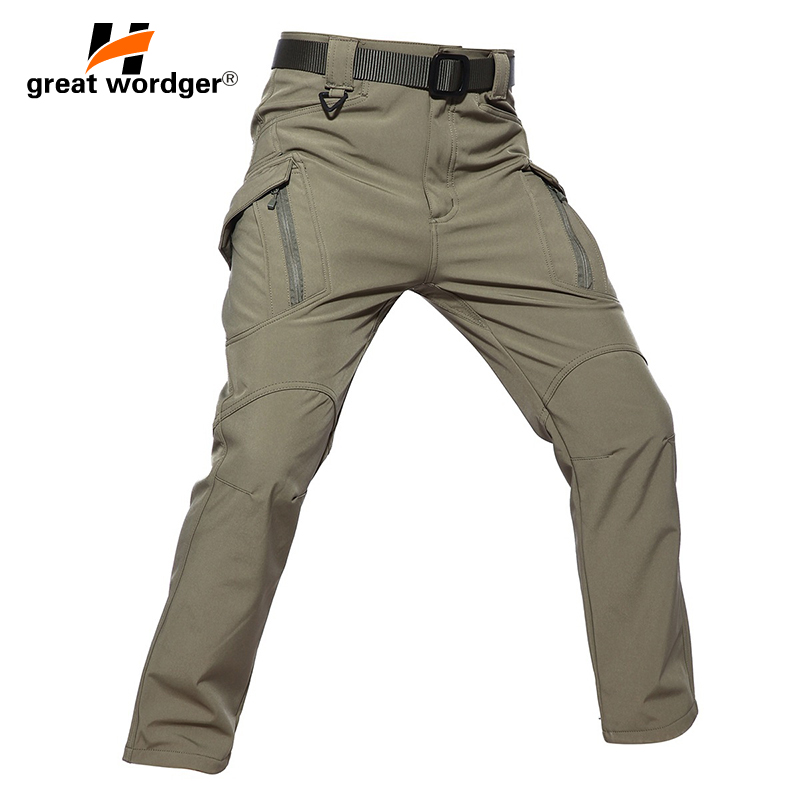IX9 Men Winter Tactical Pants Mens Waterproof Cargo Pants Military Thicken Warm Camping Hiking Pants Army