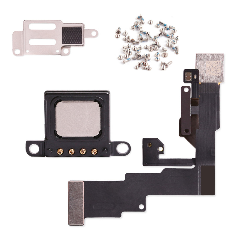 New Proximity Sensor Light Flex Cable with Earpiece  Metal Bracket For iPhone 6 4.7 6S Plus 5 5S Front Camera Assembly(China)