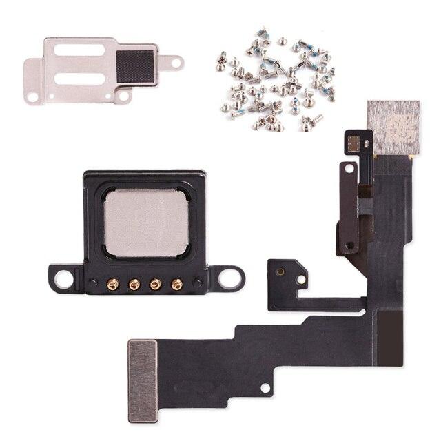 חדש סמיכות חיישן אור להגמיש כבל עם אפרכסת מתכת סוגר עבור iPhone 6 4.7 6 S בתוספת 5 5S קדמי מצלמה הרכבה