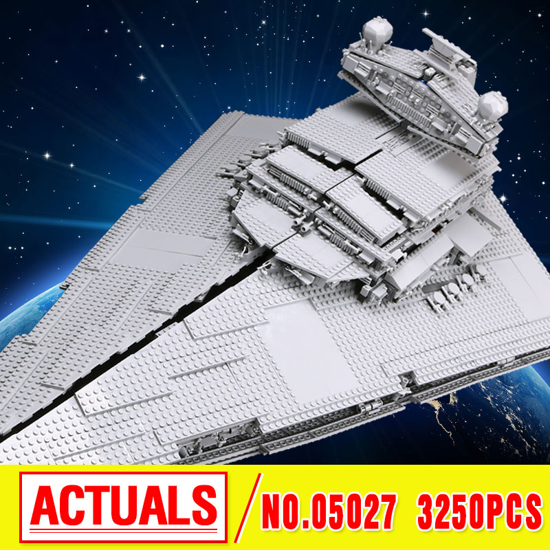 LEPIN 05027 3250pcs Star Fighters Starship destroyer Building Blocks Bricks wars Assemble Compatible 10030 birthday christmas lepin sets star wars figures 3250pcs 05027 imperial star destroyer model building kits blocks bricks educational kid toys 10030