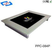 Низкая стоимость 8,4 «стойку ЖК-дисплей монитор Мини безвентиляторный Промышленные Планшетный ПК с 4xcom RS485/RS422/ RS232 Порты и разъёмы Применение коммерческих