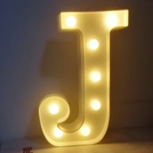 LED 26 letters Party Letter lamp. Birthday party LED letter.party Banner lights.home deco letter.