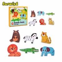 6-in-1 Extra Grote Puzzel Kinderen Ontwikkeling en Onderwijs Speelgoed-Zee Dieren Patroon