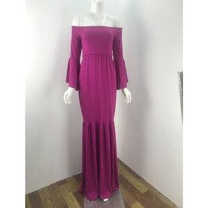 Image 5 - Bez ramiączek sukienka ciążowa na sesja zdjęciowa fotografia ciążowa rekwizyty Maxi ciąża sukienki dla kobiet w ciąży kobiety ubrania