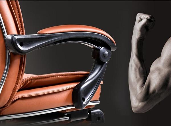 Big alto deluxe reclinabile sedia da ufficio con poggiapiedi