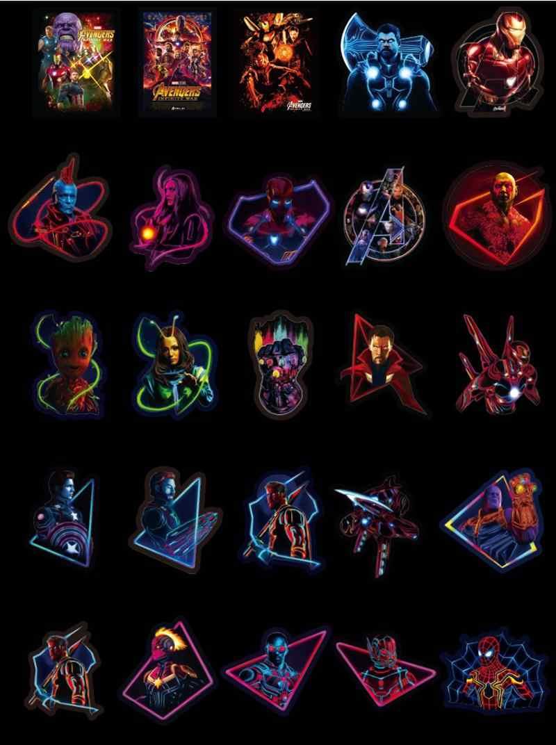 49 шт./упак. бренд красочный супер герой крутой багаж стикер ПВХ чемодан дорожный автомобиль ноутбук холодильник Скейт Мотоцикл наклейки для гитары