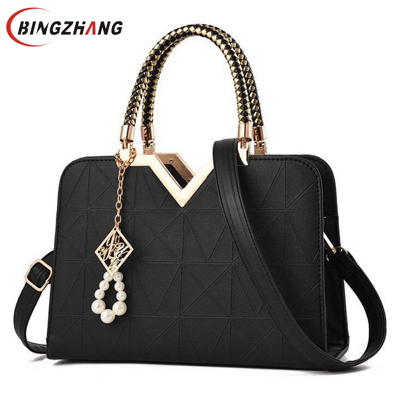 Women Bag Original Female Briefcase Handbag OL Shoulder Bag PU Messenger Bags Casual Crossbody Bags Purse Satchel Tote L4-3091 aibkhk new leather middle aged women messenger bags women handbag satchel shoulder bags casual joker cowhide bag purse tote