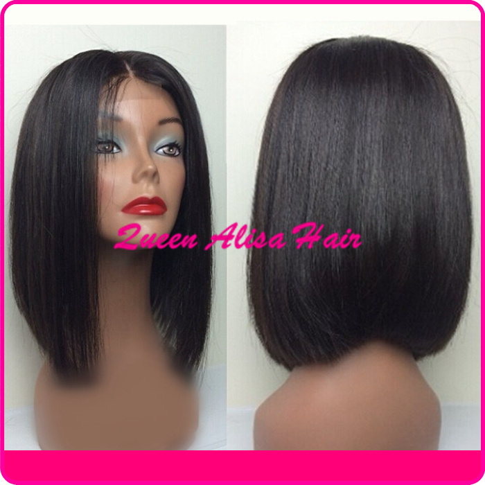 how to style a human hair wig 100 5a glueless lace wigs lace front wig bob style 7580 | 100 5A glueless full lace wigs lace front wig bob style fashion silky straight bob wigs