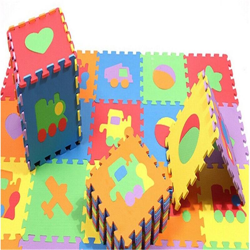 10pcs EVA Foam Non-slip Kids Game Crawling Playmat Baby Play Mats Puzzle