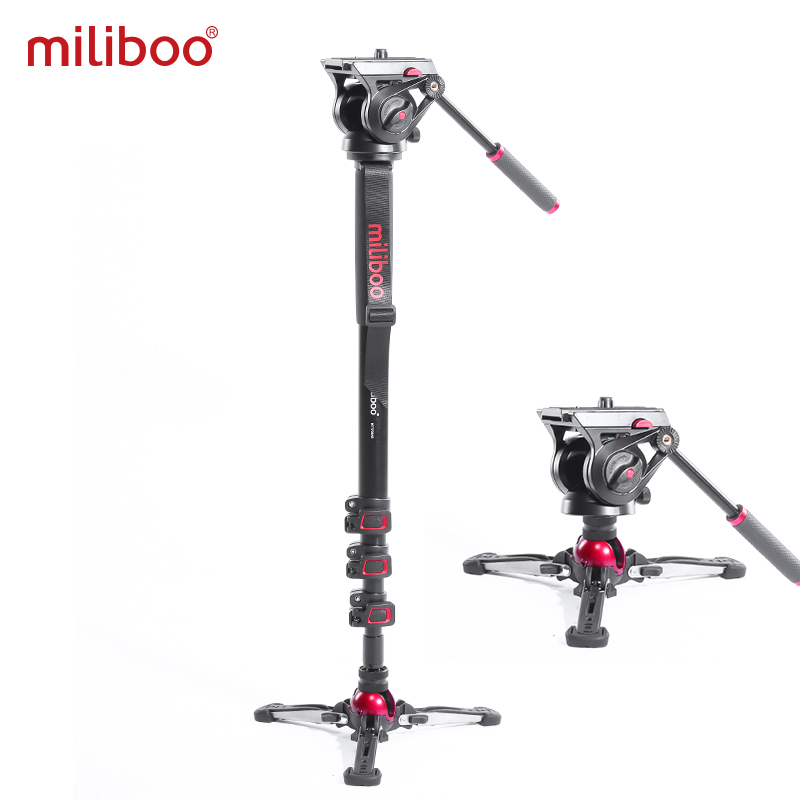 Miliboo MTT705Ⅱ Camera Video Monopod With Fluid Drag Head Professional Camera Stand For DSLR, Camcorder 10kg Load Fast Shipping