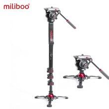 Miliboo MTT705 ⅱ カメラビデオ一脚流体抗力ヘッドプロカメラデジタル一眼レフ用スタンド、ビデオカメラ旅行 10 キロ負荷