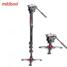 Miliboo MTT705 Ⅱ cámara Video Monopod con Fluid Drag Head soporte de cámara profesional para DSLR, videocámara viaje 10kg de carga