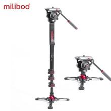 Miliboo MTT705 Ⅱ kamera Video Monopod akışkan sürükle başkanı ile profesyonel kamera standı DSLR, kamera seyahat 10kg yük