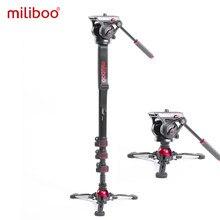 Miliboo-monopié de vídeo con cabeza de arrastre fluido, soporte profesional para cámara DSLR, videocámara de viaje, carga de 10kg, MTT705 II