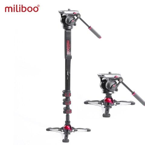 Monopocâmera de Vídeo Monopé com Fluido Suporte da Câmera para Dslr Miliboo Arrastar Cabeça Profissional Filmadora 10kg Carga Transporte Rápido Mtt705