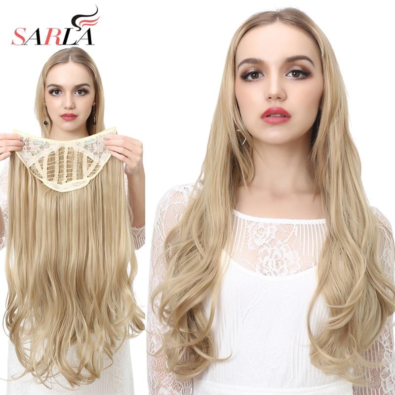 SARLA u образные синтетические волосы на заколках для наращивания, длинные Толстые вьющиеся натуральные светлые локоны для волос для женщин, термостойкие hairpiece hairpiece hair extensionhairpiece hair   АлиЭкспресс