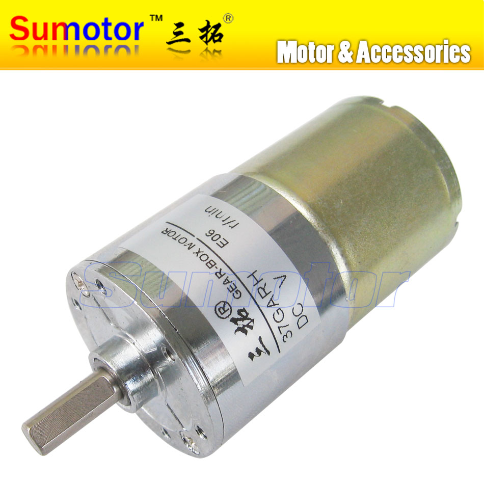 37GARG DC 12V 24V 37mm Micro Electric Reducer Metal Geared Motor Low speed DIY RC smart car Robot model Money counting machine цена