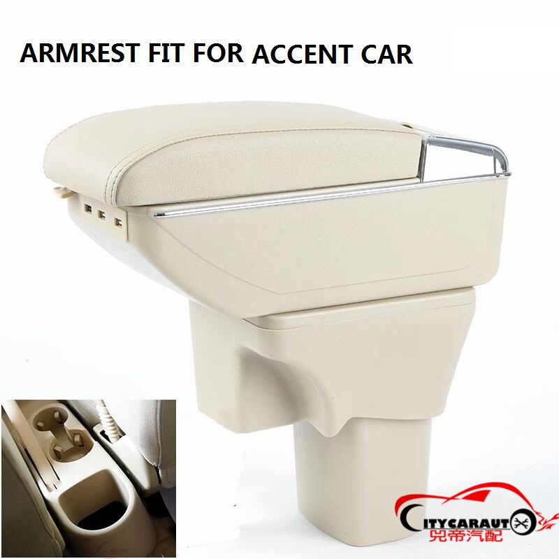 CITYCARAUTO BIGGEST SPACE+LUXURY+USB Car armrest box central Storage content box with cup holder USB FIT FOR hyudai Accent 2006+CITYCARAUTO BIGGEST SPACE+LUXURY+USB Car armrest box central Storage content box with cup holder USB FIT FOR hyudai Accent 2006+