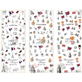 Ногтей Воды Наклейки DIY Советы Украшения Классический Флаг Дерево Лист на Пальцы Вода Ногтей Передача Искусство Пластиковые Татуировки 8273819