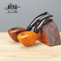 2018 NewBee Handmade Briar Wood tobacco pipe smoking pipe Gentleman gift with 3mm metal filter aa0171