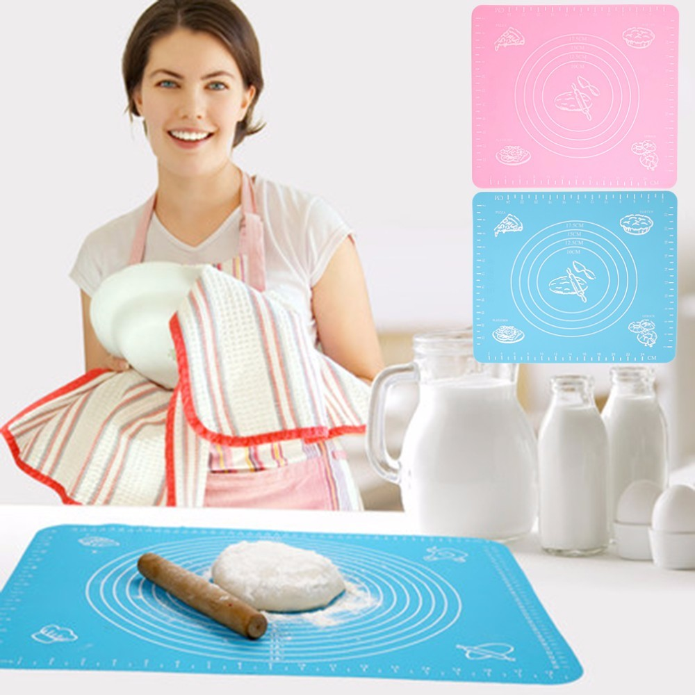 100 Food Grade Silicone 40 50cm Large Rolling Cut Mat