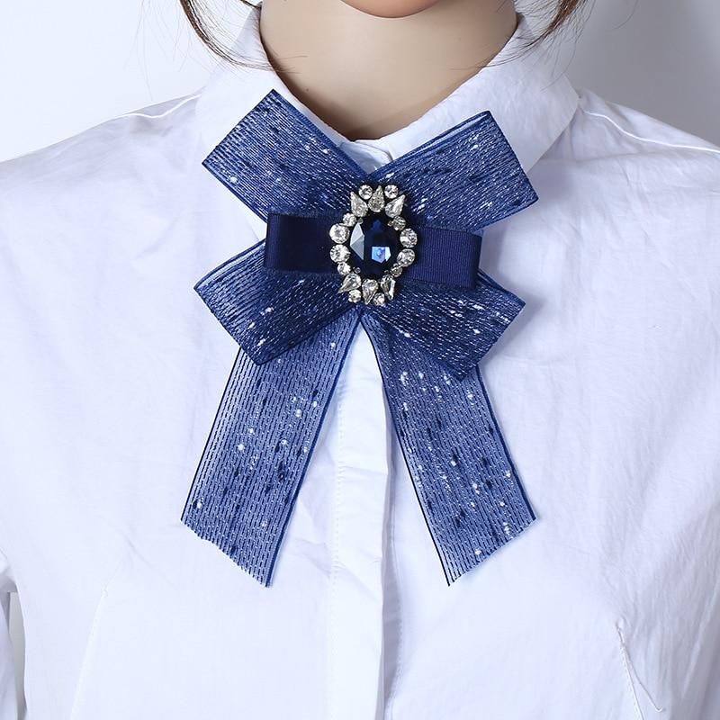Damen-accessoires Awaytr Damen Jeweled Fliege Für Frauen Garn Strass Neck Pin Krawatten Mode Zubehör Bluse Tuch Fliege Mode Weibliche GroßE Auswahl;