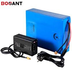 Batterie rechargeable 1000W 50Ah 40Ah 30Ah 52V pour Samsung 21700 cell 14S 51.8V 1500W batterie de vélo électrique avec chargeur 5A