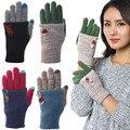 Novo Ao Ar Livre Malha Mulheres Mão Wrist Aquecedor do Inverno Luvas do Toque de Tela