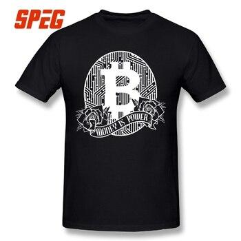 Bitcoin Money is Power Round Neck Short Sleeve Tee Shirt