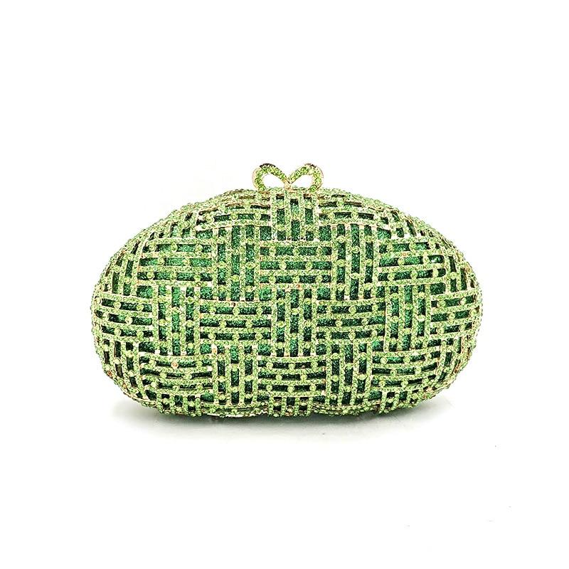 Najnowszy projekt kobiety wieczór party torebki diamenty eleganckie torebki luksusowe sprzęgło ślubne wesele kryształ małe torebki torba w Torby z uchwytem od Bagaże i torby na  Grupa 2