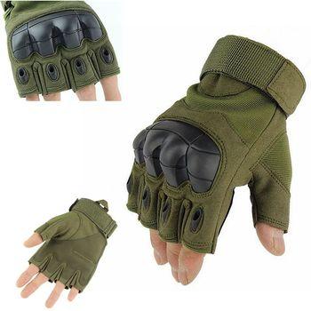 Twarde Knuckle rękawice taktyczne wojskowe armii rękawiczki bez palców rękawice rowerowe rękawice anty antypoślizgowe H rękawice sportowe na świeżym powietrzu rękawice gimnastyczne tanie i dobre opinie polyster+cotton+microfiber tactical gloves Pasuje prawda na wymiar weź swój normalny rozmiar demeysis M L XL Black Green Tan