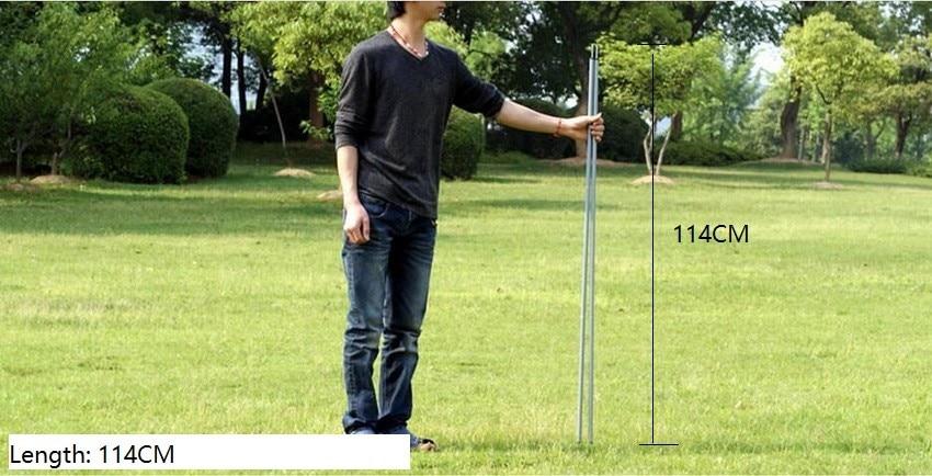 114 cm * 2 raízes. Postes da