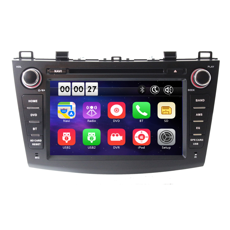 8 inch Two Din 1024*600 Car DVD Player <font><b>GPS</b></font> navigation stereo for <font><b>Mazda</b></font> <font><b>3</b></font> 2010 2011 2012 2013 with Bluetooth Radio free <font><b>map</b></font> image