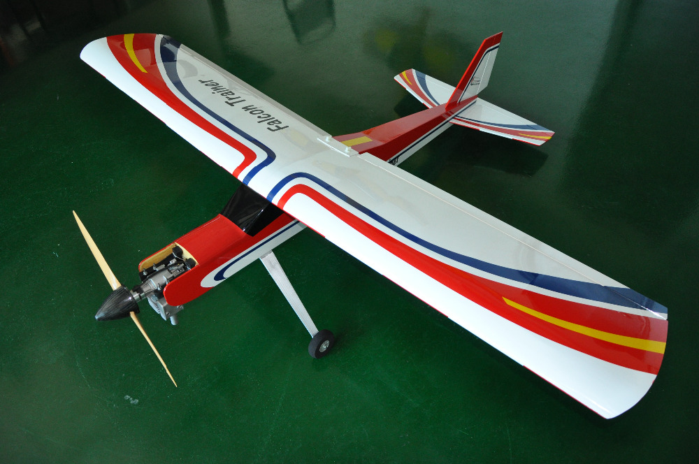 Falcon Trainer 20cc Gasoline RC Airplane Balsa Wood Plane Model Aircraft for Trainer image