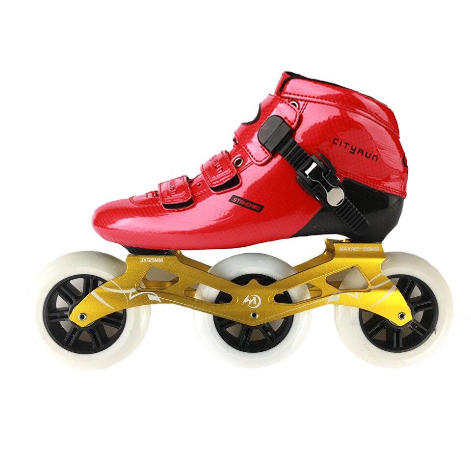 JEERKOOL Cityrun2 Professionnel Vitesse Patins À Roues Alignées Rouleau Chaussures En Fiber De Carbone 110mm roues de patinage Patins pour Enfants Adulte Hommes SH46 - 3