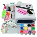 Pro Nail Art Kit 36W UV Lamp For Nails Top Coat Primer 12 Colors Nail Gel Polish Varnish Set For Nails Manicure Set & Kit