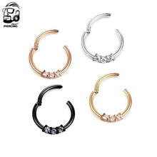 316L Surgical Steel Hinged Segment Ring Nose Ring