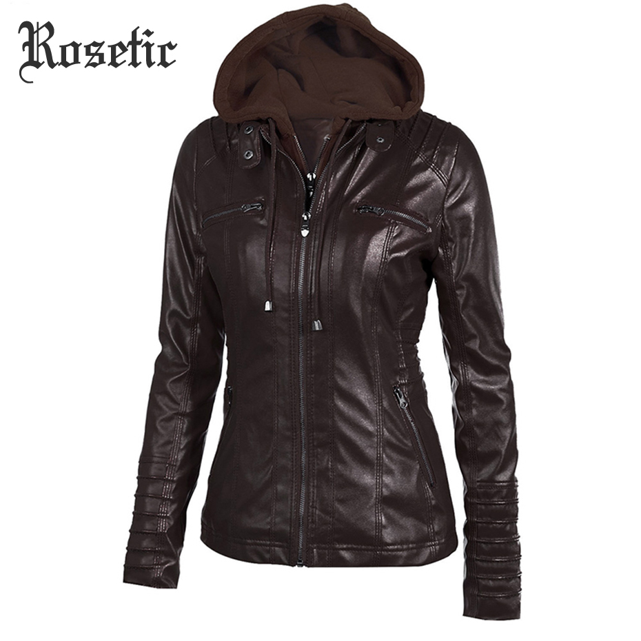 Rosetic Gothic Faux   Leather   Jackets Pu   Leather   Motorcycle Jacket Black Outerwear Faux   Leather   Pu Jacket Coat Spring Goth Outwear