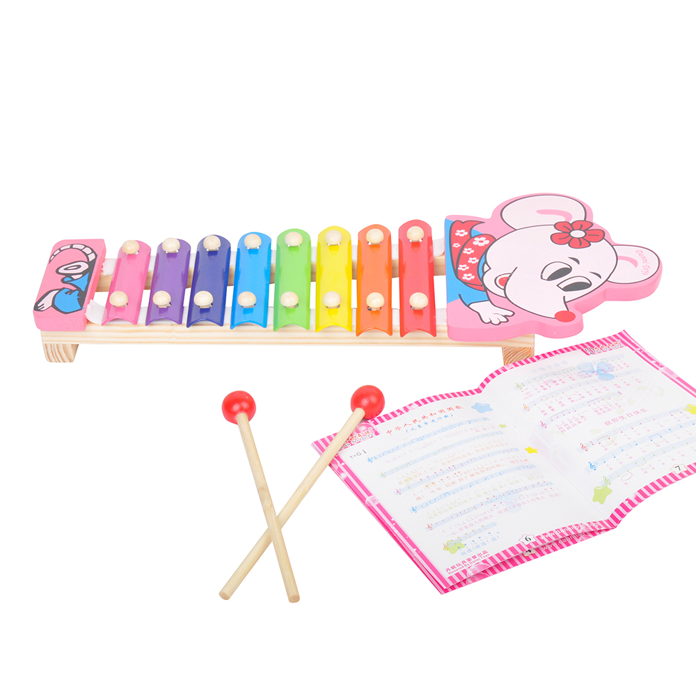 Wooden Toy Musical Instrument Teaching Children Kids Early Educational Toy Gifts Knock Piano Wisdom