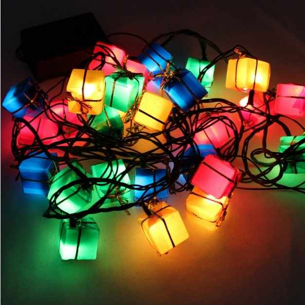 28 LED Mini String Lights Gift Box For Christmas Halloween Party Wedding House Decor Multicolour Light Low Power Consumption
