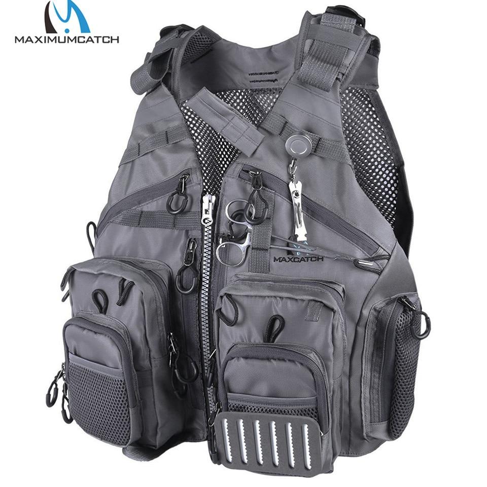 Maximumcatch Adjustable Fly Fishing Mesh Vest Mutil-Pocket Packs & Detachable Floatation Cushion Fishing Vest все цены
