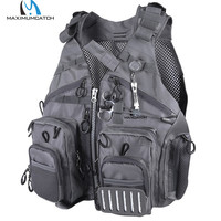 Maximumcatch Fly Fishing Mesh Vest Adjustable Mutil Pocket Outdoor Sport Backpack