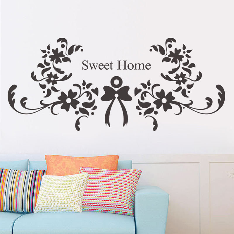 Beautiful accessories wall sticker removable sweet home - Beautiful wall stickers for living room ...