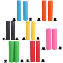 1 Pair Bicycle Grips Non-slip Grip Soft Rubber Bike Handle Grip 7 Colors