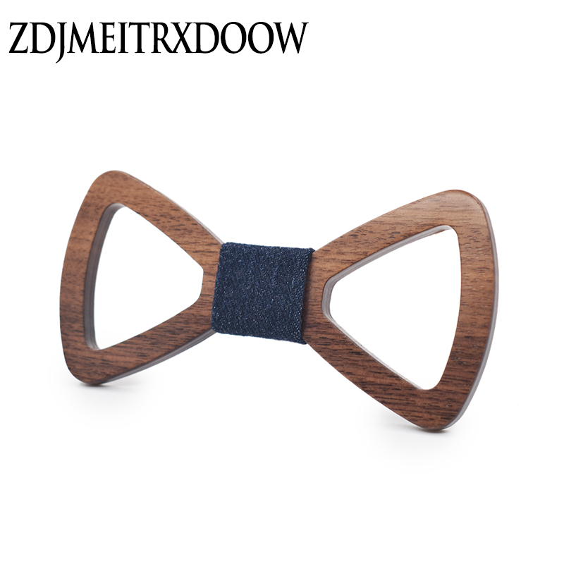 15 Couleur Nouveau Style De La Mode gravata de seda Adultes Cravates Évider Mens Bowties En Bois Gravata Business Groom En Bois Bow Ties