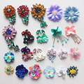 10pcs Beaded Sequined 3D Flower Patches Fabric Parches for Clothing Decorative Diy Sewing On Stickers Apparel Fabric Parches