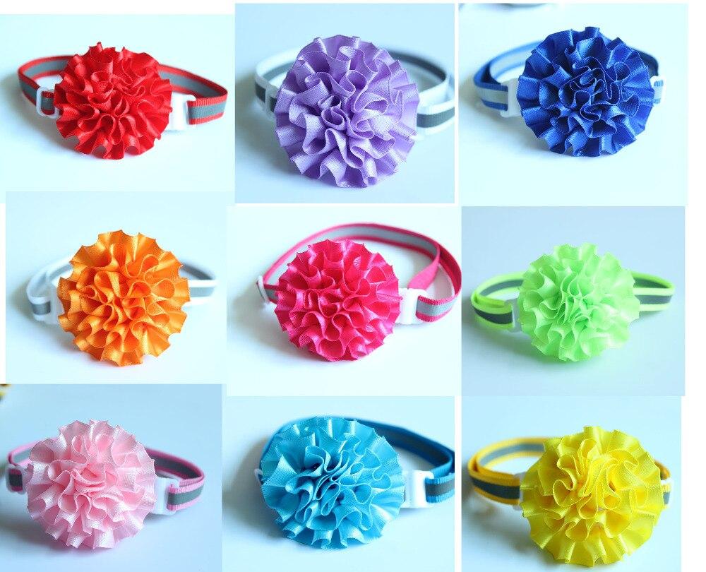 Wholesale 200pcs Pet reflective Collar Pet Dog Bow Ties Flower Ball Pet Necktie Pet Dog Ties