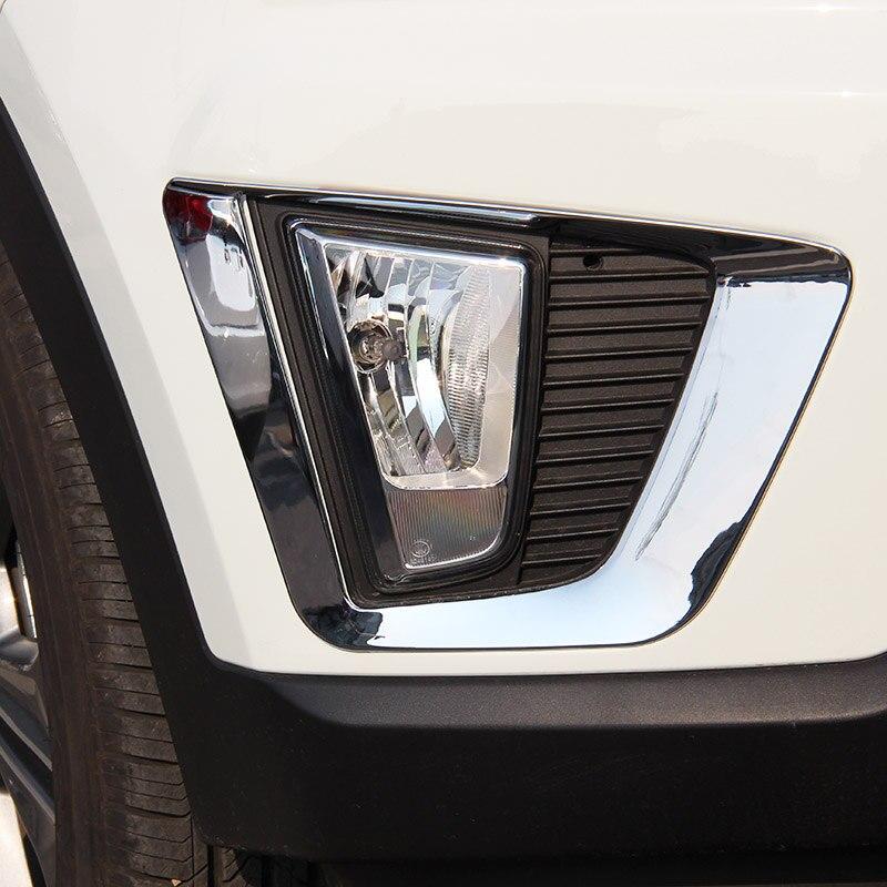 Fit For Hyundai Creta ix25 2014 2015 2016 Chrome Front Fog Light Lamp Cover Trim
