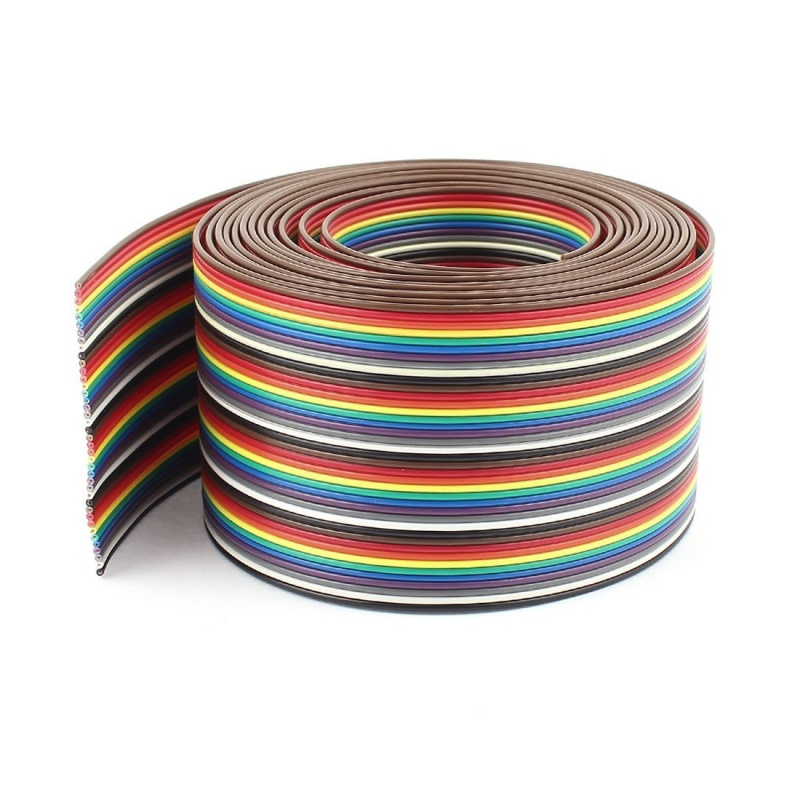 10ft 40 Way 40-Pin Rainbow Color IDC Flat Ribbon Cable 1.27mm Pitch(China)